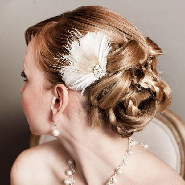 """<div class=""""caption-credit""""> Photo by: Etsy seller somethingjeweled</div><div class=""""caption-title"""">7. Feather Frenzy</div><a rel=""""nofollow noopener"""" href=""""http://www.etsy.com/listing/91170292/bridal-feather-hairpiece-bridal?ref=sr_gallery_14&ga_search_query=feather+wedding+hairpiece&ga_view_type=gallery&ga_ship_to=ZZ&ga_min=0&ga_max=0&ga_search_type=all"""" target=""""_blank"""" data-ylk=""""slk:Feather headpiece"""" class=""""link rapid-noclick-resp"""">Feather headpiece</a> by Etsy seller somethingjeweled. <br> <br> <b>Related: <a rel=""""nofollow noopener"""" href=""""http://www.bridalguide.com/beauty-fitness/makeup-skincare/beauty-tips-for-your-wedding-week"""" target=""""_blank"""" data-ylk=""""slk:Beauty Tips for Your Wedding Week"""" class=""""link rapid-noclick-resp"""">Beauty Tips for Your Wedding Week</a></b> <br>"""