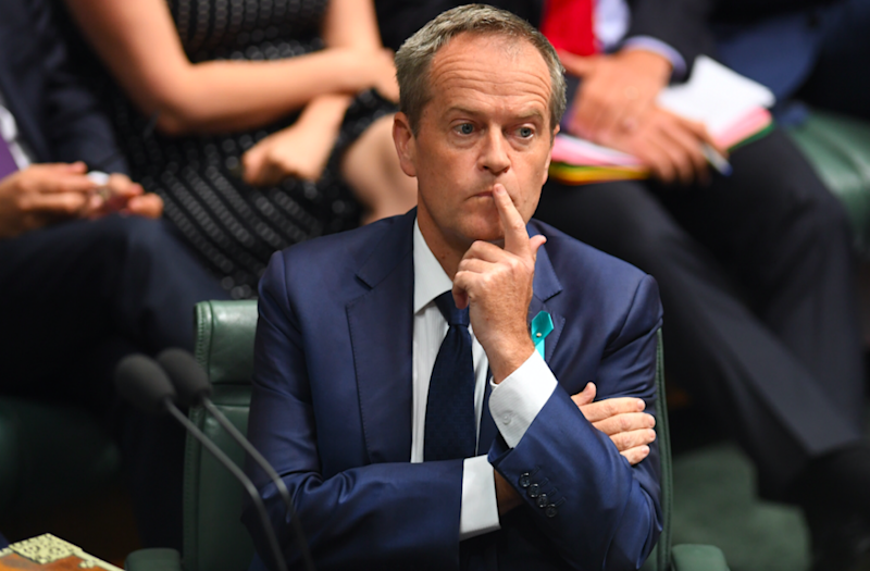 Opposition Leader Bill Shorten during Wednesday's Question Time. Photo: AAP