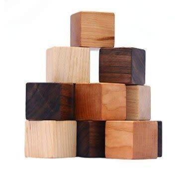 """This Washington-based Amazon Handmade shop specializes in handcrafted wooden toys. Find these <a href=""""https://amzn.to/2BL3suZ"""" rel=""""nofollow noopener"""" target=""""_blank"""" data-ylk=""""slk:natural wood blocks"""" class=""""link rapid-noclick-resp"""">natural wood blocks</a> for $23."""