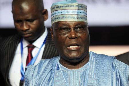 FILE PHOTO: Atiku Abubakar, a former Nigerian vice president, attends a gathering of his party in the Niger Delta city of Port Harcourt, October 6, 2018. REUTERS/Tife Owolabi/File Photo