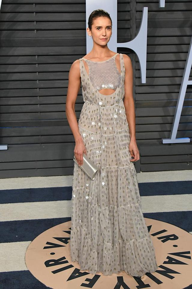 <p>You can't beat some serious beading, as evidenced by this actress's red carpet look. (Photo: Jon Kopaloff/WireImage) </p>