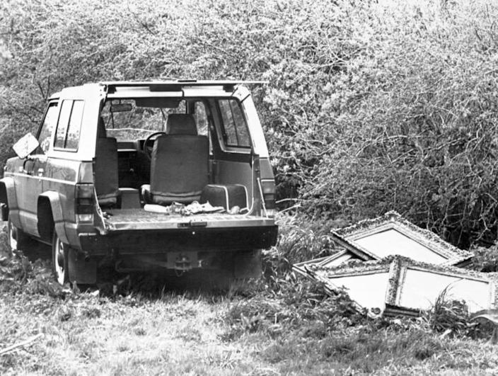 """<div class=""""inline-image__title"""">854461200</div> <div class=""""inline-image__caption""""><p>""""An abandoned van at Kilbride, where seven of the 17 paintings stolen from Russborough House were recovered""""</p></div> <div class=""""inline-image__credit"""">PA Images/Getty</div>"""