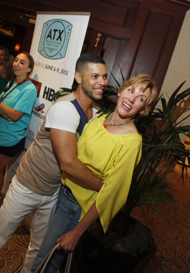 Wilson Cruz and Bess Armstrong attend the Opening Night Party at ATX Television Festival on Thursday, June 6, 2013 in Austin, Texas.