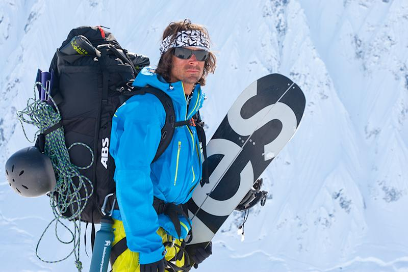 """This April 10, 2010 photo provided by Protect Our Winters shows Jeremy Jones at the Fairweather Mountains near Yakutat, Alaska. The backcountry snowboarder says he's seen the effects of climate change up close in 18 years of heading to Alaska for deep powder in the winter. """"Our season ends a week earlier than it used to. The glacier we use to land on, we can't anymore,"""" Jones said. It's part of the reason he formed Protect Our Winters in 2007 to unite snowboarders and skiers behind saving what they love. Coming off a ski season with weak snowfall in much of Colorado, Utah and the Northeast, there's a sense of urgency to what the group wants to do next, namely making Congress pay more attention to climate change. (AP Photo/Protect Our Winters, Greg Von Doersten) MANDATORY CREDIT: GREG VON DOERSTEN"""