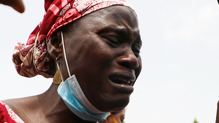 A mother whose child was abducted in Nigeria this year- May 2021