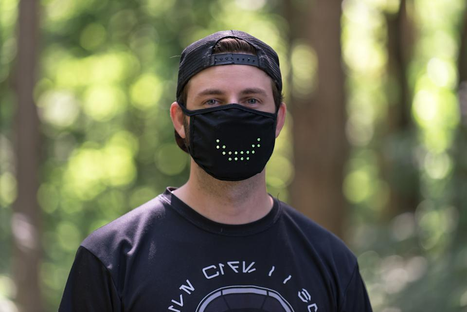 """Face masks save lives, but they can make communication difficult. <a href=""""https://maskmarket.com/shop/led-smart-mask/"""" target=""""_blank"""" rel=""""noopener noreferrer"""">The Smart Mask</a> tries to remedy that by using LED lights that supposedly mimic facial movements. It's not perfect, but it is perfect for that TikTok video you've been planning."""