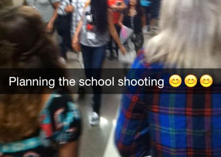 """Teen Arrested After School Shooting """"Prank"""" on Snapchat"""