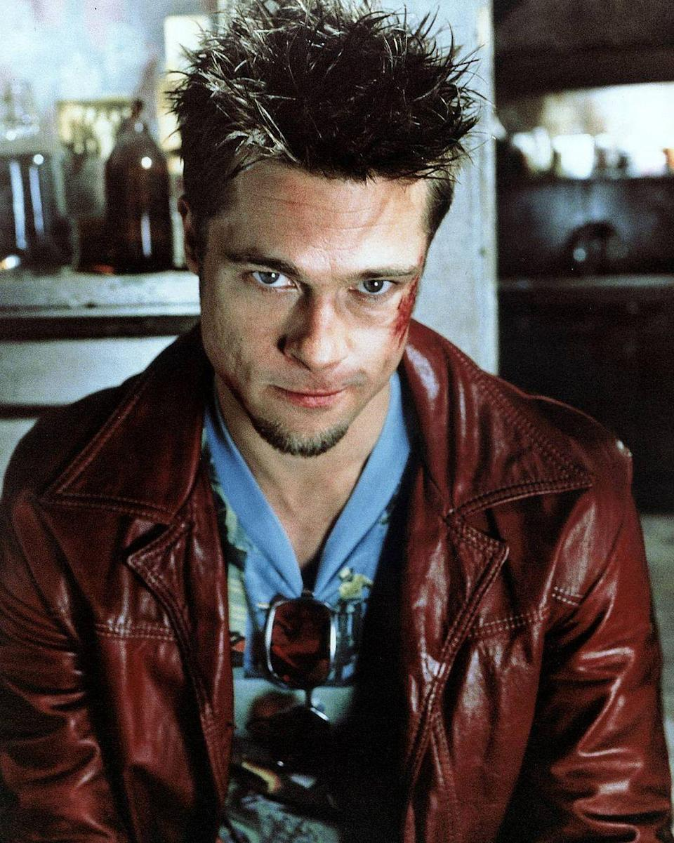 <p>We're not supposed to talk about this movie, but Brad Pitt's character is a portrait of anarchy. He's a guy who loves violence and relishes in it. It's his art. And while Pitt is famous for eating a lot in most of his movies, he's as fit as any human has ever been in this one.</p>