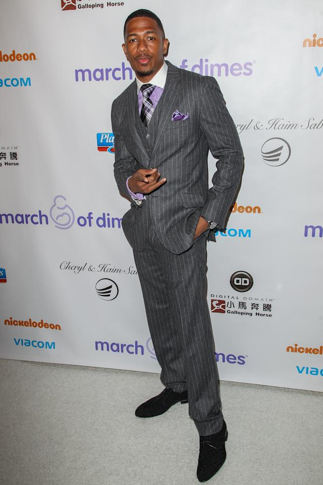 BEVERLY HILLS, CA - DECEMBER 07:  Nick Cannon arrives at the March Of Dimes' Celebration Of Babies held at the Beverly Hills Hotel on December 7, 2012 in Beverly Hills, California.  (Photo by Paul A. Hebert/Getty Images)