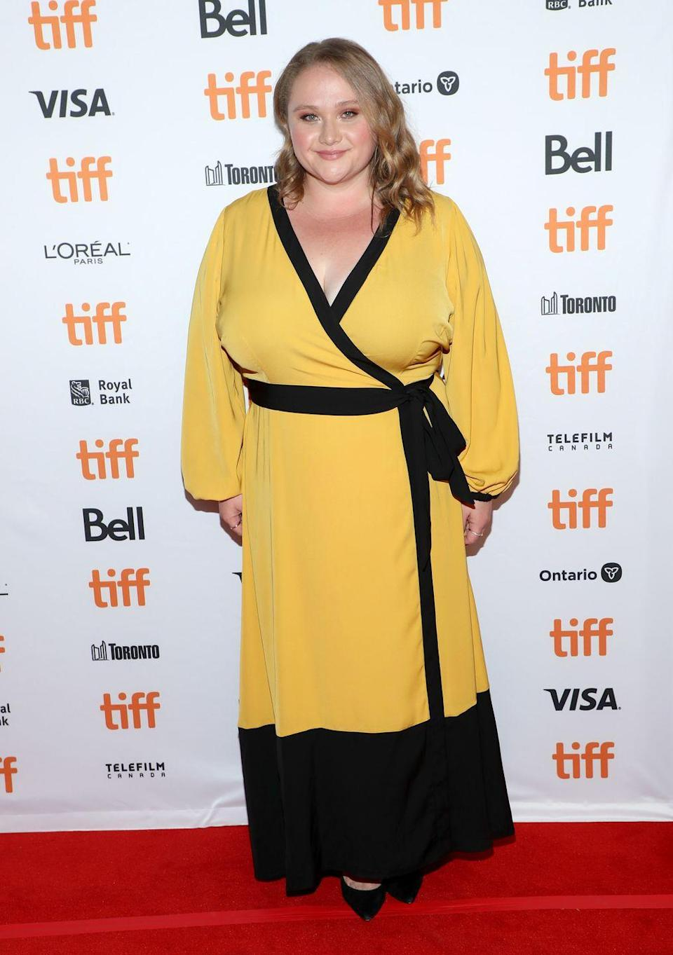 <p>Wrap dresses really are one of the most versatile pieces of apparel to exist. Danielle Macdonald shows us that we shouldn't shy away from bold colours and so I've added a colorful wrap dress to my New Year's outfit list.</p>