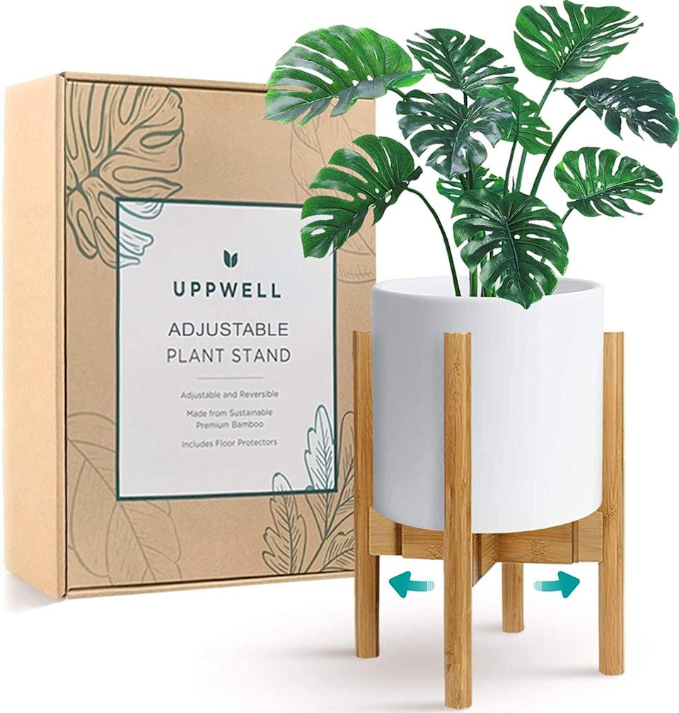 <p>Level up your plant game with the <span>UppWell Plant Stand</span> ($25). It's adjustable from eight to 12 inches and can be flipped depending on how high you want your plant to sit.</p>