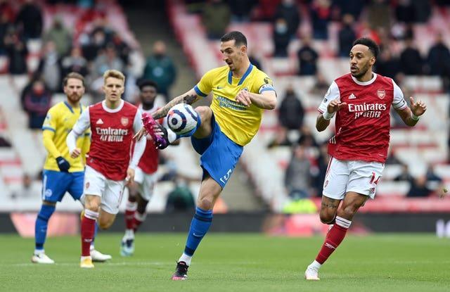 Lewis Dunk was unable to steer Brighton to a second successive Premier League win at Arsenal.