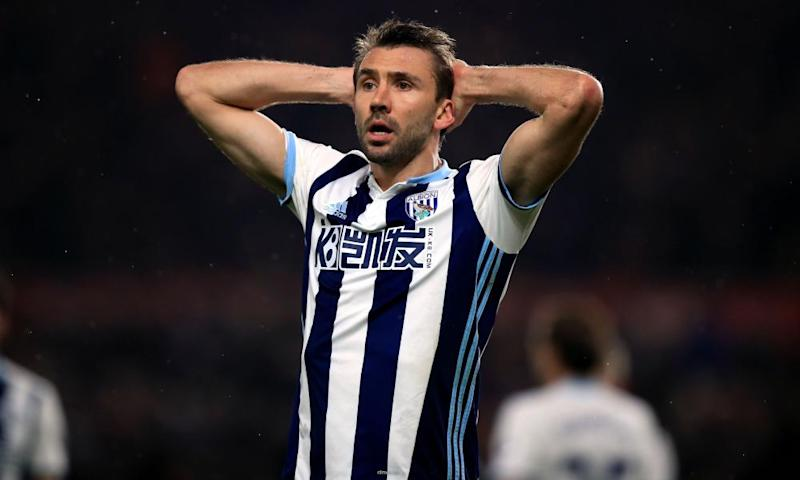 Gareth McAuley of West Bromwich Albion.