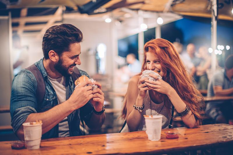 Who's guilty of only going on a date in the hope of a free meal? [Photo: Getty]