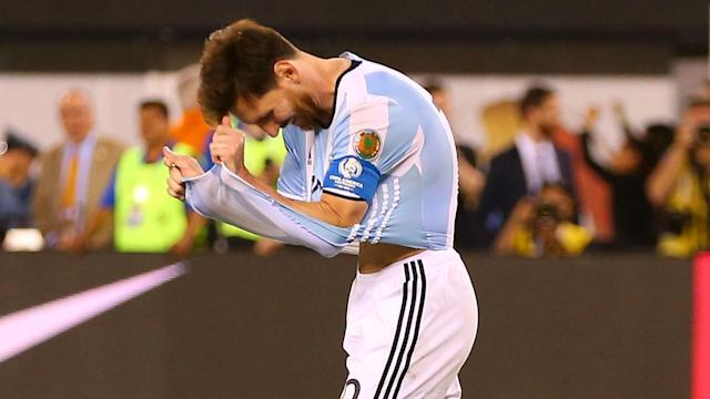 The Argentina superstar has been banned for four international matches after an alleged outburst at a linesman, much to his club's chagrin
