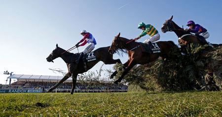 FILE PHOTO: Derek Fox on One For Arthur in action during the 5:15 Randox Health Grand National