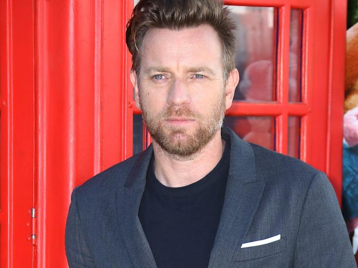 """Ewan McGregor at the red carpet premiere of the film """"Christopher Robin"""" in August 2018."""