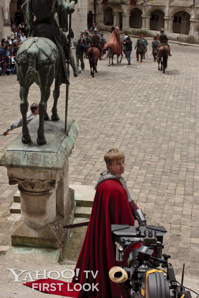 Chateau Pierrefonds provided an elaborate, authentic location to serve as Camelot, and the cast, including Bradley James, got to know it very well during more than three years of shooting Merlin's five seasons.