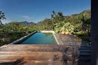 "This is the kind of home you go to get away, turn off your phone, and enjoy your surroundings—starting with this pool, where you're welcomed by mountain views of Tepoztlán, a town about an hour and a half south of <a href=""https://www.cntraveler.com/destinations/mexico-city?mbid=synd_yahoo_rss"" rel=""nofollow noopener"" target=""_blank"" data-ylk=""slk:Mexico City"" class=""link rapid-noclick-resp"">Mexico City</a> known for its natural beauty (lakes, volcanoes, and waterfalls included). Past guests note using the patios to meditate, watch the sunset, and read. Inside, there are two queen beds in one large bedroom, making the space best for a couple or a small group of friends. $161, Airbnb (starting price). <a href=""https://www.airbnb.com/rooms/40510244"" rel=""nofollow noopener"" target=""_blank"" data-ylk=""slk:Get it now!"" class=""link rapid-noclick-resp"">Get it now!</a>"