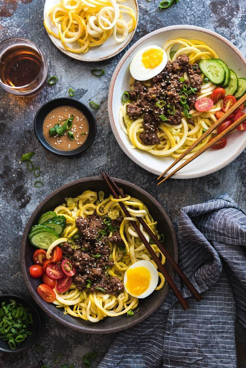 "<p>The beef is so delicious, they won't notice the noodles are really zoodles.</p><p><em><span class=""redactor-invisible-space""><a href=""http://omnivorescookbook.com/sesame-beef-squash-noodle-bowl/"" rel=""nofollow noopener"" target=""_blank"" data-ylk=""slk:Get the recipe from Omnivore's Cookbook »"" class=""link rapid-noclick-resp"">Get the recipe from Omnivore's Cookbook »</a></span></em><br></p>"