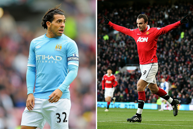 <p>Dimitar Berbatov(Manchester United) and Carlos Tevez (Manchester City) shared the Boot with 20 goals each. Berbatov's Reds won the Premier League title, however. </p>