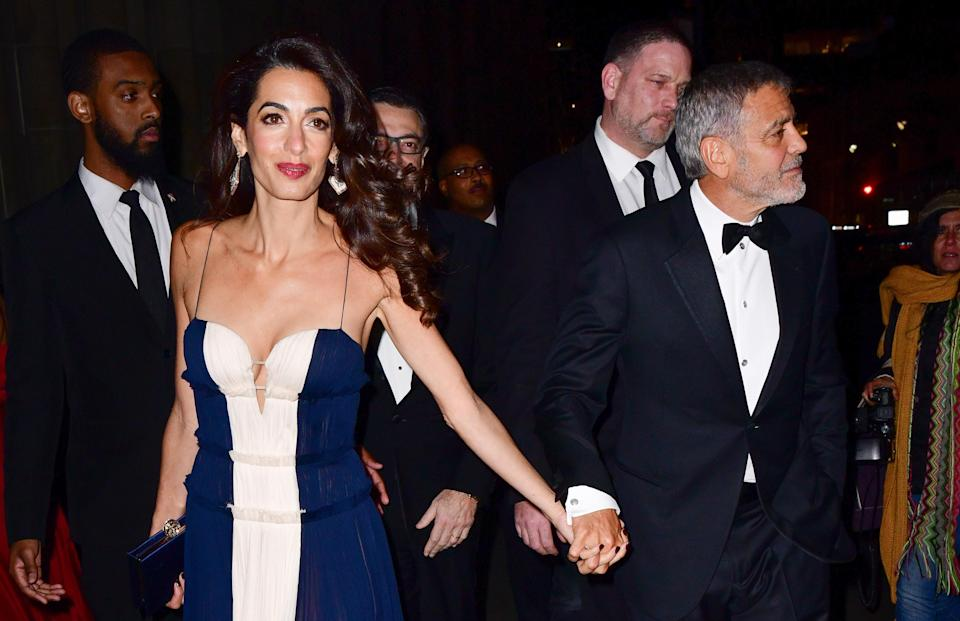 Amal Clooney served up a dose of Hollywood glamour at last night's award ceremony in New York [Photo: Getty]