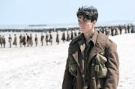 <p>With larger-than-life artistry, Christopher Nolan fractures time and space to depict the evacuation of Allied forces from the beaches of Dunkirk, France, in this thrillingly unconventional WWII epic. Split between land, sea, and aerial perspectives, Nolan presents a harrowing micro-and-macro vision of heroism, cowardice, and sacrifice, told with a wide-canvas splendor that — especially when experienced on a 70mm Imax screen — is nothing short of breathtaking. — <em>N.S. </em>(Photo: Everett Collection) </p>