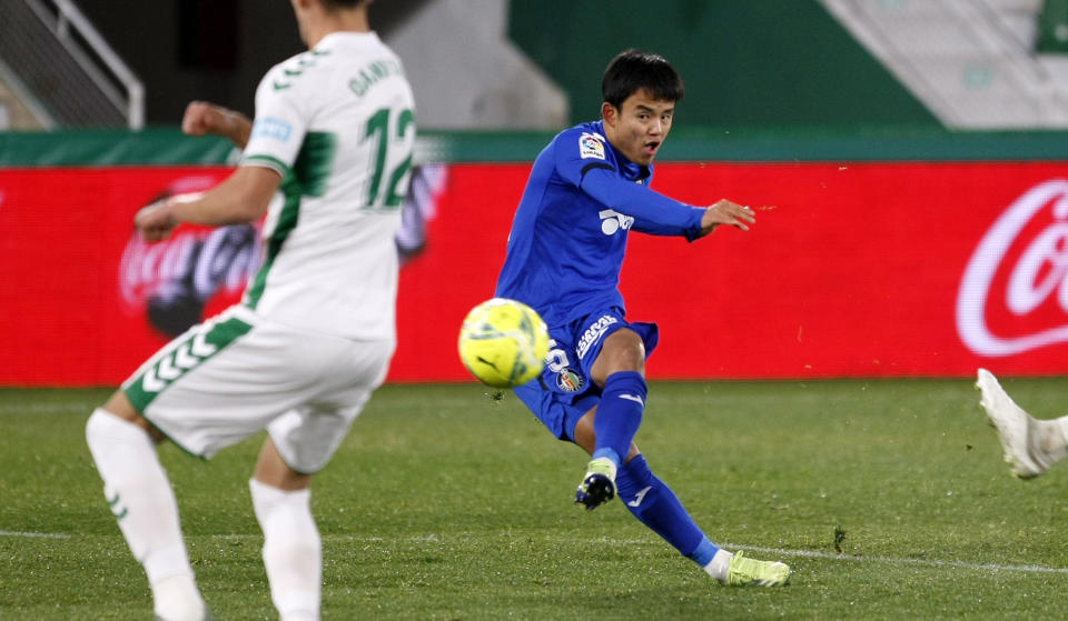 Getafe's Japanese winger Takefusa Kubo. (PHOTO: LaLiga