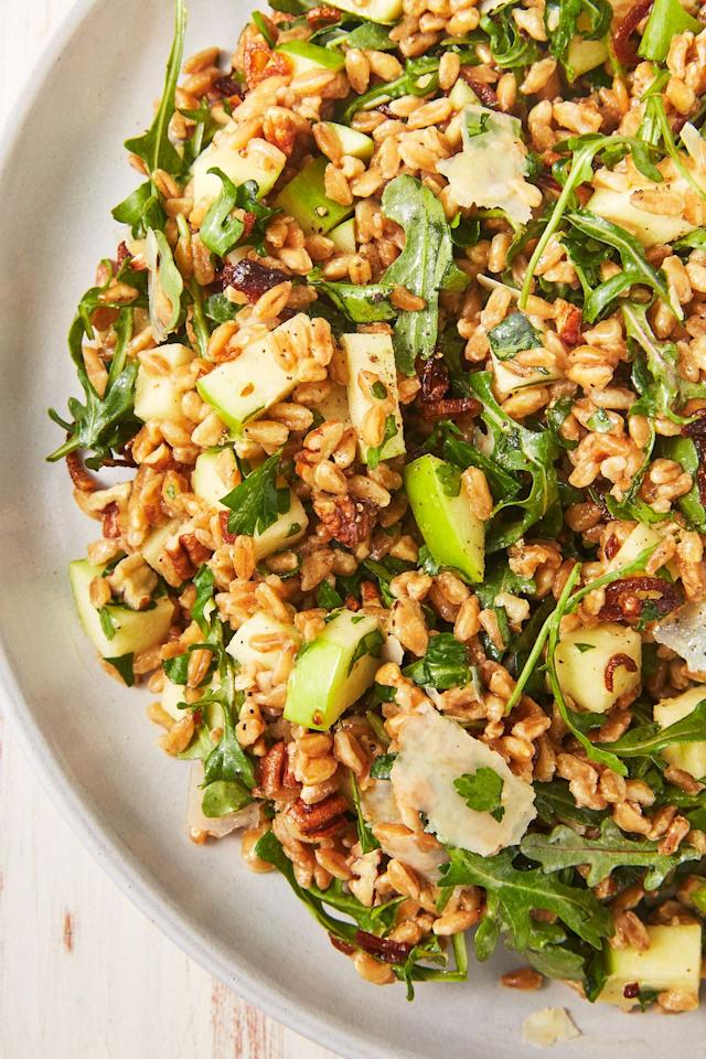 "<p>This is sure to be a favorite on Mother's Day.</p><p>Get the recipe from <a href=""https://www.delish.com/cooking/recipe-ideas/recipes/a43059/best-farro-salad-recipe/"" target=""_blank"">Delish.</a></p>"