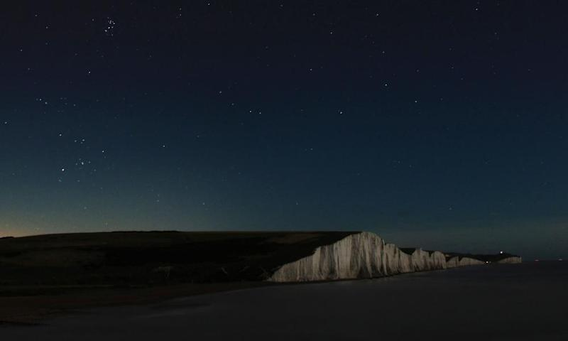 """How we were: a dark night at Seven Sisters Country Park, East Sussex, which is designated an """"international dark sky reserve""""."""