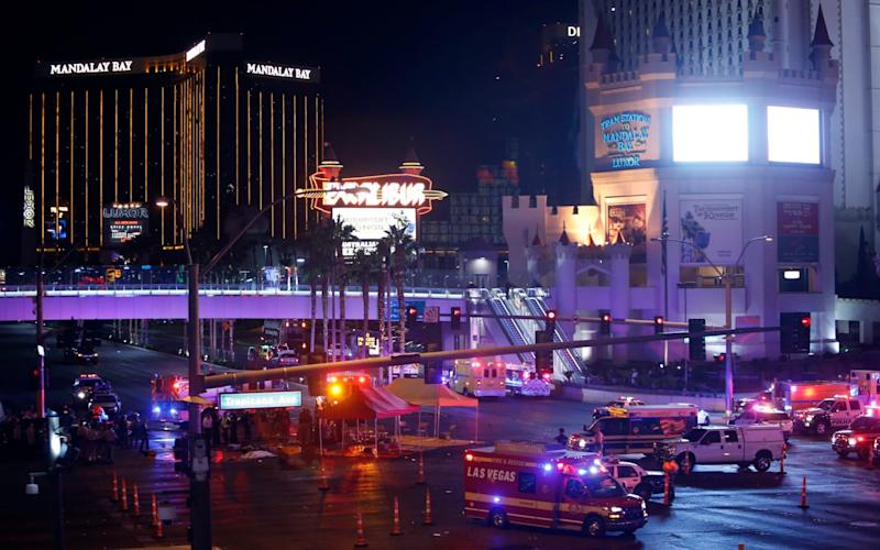 The Mandalay Bay hotel and casino, from where Stephen Paddock murdered 58 people on October 1 - Las Vegas Sun