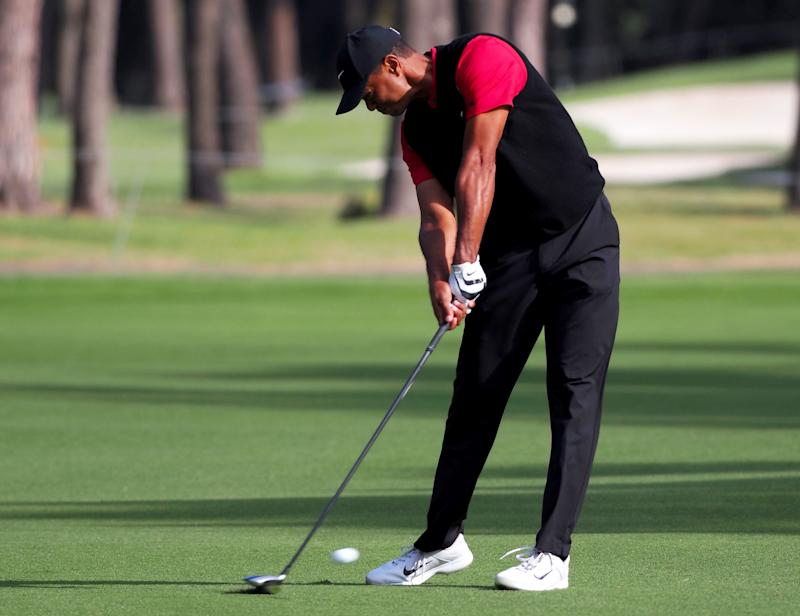 Woods has adapted his swing to his age, sacrificing power for accuracy.