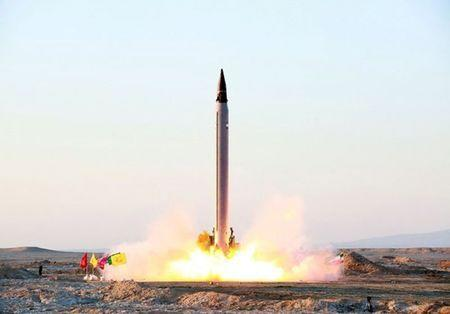 A new Iranian precision-guided ballistic missile is launched as it is tested at an undisclosed location October 11, 2015. REUTERS/farsnews.com/Handout via Reuters