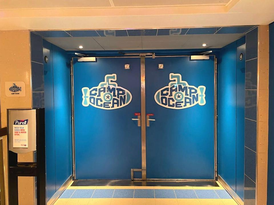 The doors to a closed kids area.