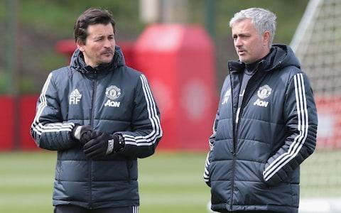 Rui Faria, Jose Mourinho's long-serving assistant, is expected to be offered his first managerial job with Portuguese giants Benfica should they sack their coach. Rui Vitoria is under extreme pressure at the Lisbon club, having lost the Portuguese league to Porto this season and may be replaced. It was announced at the weekend that Faria is leaving Manchester United and severing his 17-year association with Mourinho, who has tipped the former fitness coach to take a top managerial job. Faria's departure is a significant blow to Mourinho although he has long talked up the 42-year-old's prospects of taking charge of a club in recent weeks, aware that he wants to go. The pair have been together throughout Mourinho's trophy-winning spells at Porto, Chelsea, Inter Milan, Real Madrid and United. Mourinho first encountered Faria at Barcelona and then took him to Uniao Leiria as his fitness coach in 2001. Faria followed Mourinho to Porto, where they won the Uefa Cup and Champions League as well as back-to-back league titles and their careers took off. Mourinho believes Faria will go on to become a successful manager Credit: Getty Images Mourinho has already said he will not directly replace Faria but will re-organise his coaching staff – which will now include Michael Carrick, as he retires as a player – without a recognised number two for the time being. It remains to be seen whether despite Faria's experience and impressive track record he has the temperament to succeed as a manager, especially when it comes to dealing with the media. Vitoria is in his third season at Benfica and won the Portuguese title in each of the last two, but this year he lost out to Sergio Conceicao's Porto in the league. Best Man Utd XI of all time Mourinho had a brief three-month spell at Benfica himself before he started working with Faria back in 2000. It is understood that a return to Portugal may appeal to Faria who said in the statement announcing he was leaving United that he wanted to spend more time with his family and assess his options. Faria is not in the running to become the new head coach of Arsenal or, it seems, any other Premier League club despite the expected summer of upheaval in England.