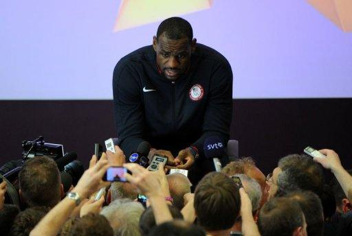 LeBron James of the 2012 USA Basketball Men's National Team attends a press conference in London. James, Kobe Bryant and other NBA stars are pleading their case to keep the Olympics from becoming a 23-and-under event but there are indications the superstars' advice is falling upon deaf ears