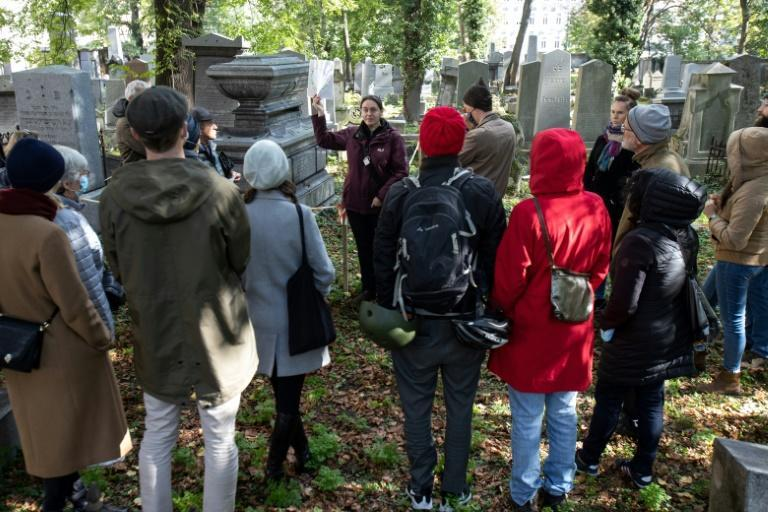 People come for tours of the Waehring cemetery to learn about the prominent and wealthy Viennese Jewish figures buried there