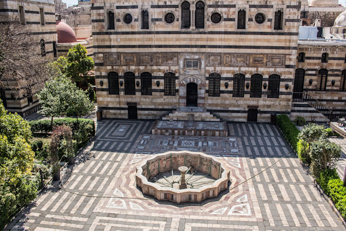 Syria's <strong>Al Azem</strong> palace in Damascus is an impressive Ottoman-era courtyard home.