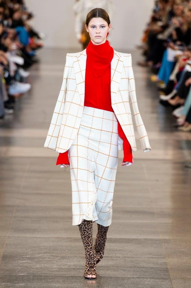 <p>A look from the Victoria Beckham Fall 2019 collection. Photo: Imaxtree</p>
