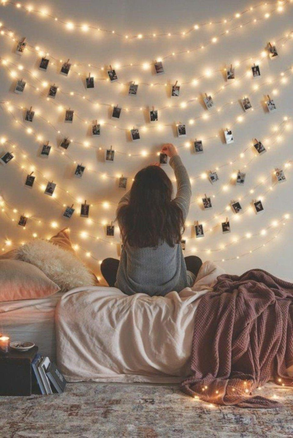 <p>Make any room especially cozy with these <span>66 Ft Waterproof Starry Fairy Copper String Lights</span> ($13). The lights add some ambiance, and you can hang your favorite memories from them.</p>