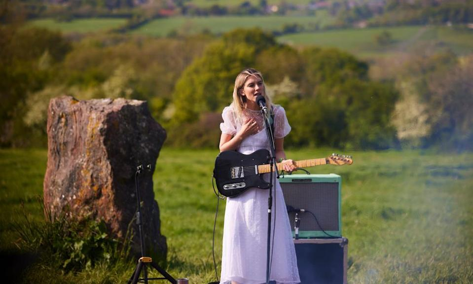 Ellie Rowsell of Wolf Alice performing at Glastonbury's recent Live at Worthy Farm livestream.