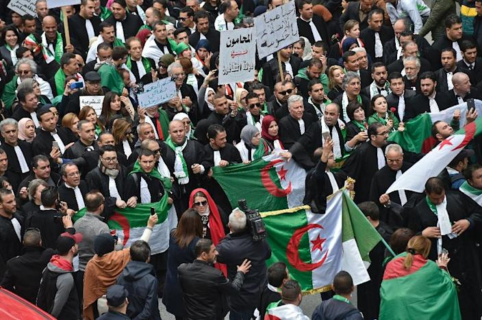 President Abdelaziz Bouteflika said in February 2019 he would run for a fifth term, triggering an outcry in the country which has been gripped by demonstrations since (AFP Photo/RYAD KRAMDI)