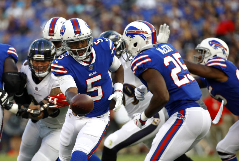 Tyrod Taylor left Saturday night's game as he was evaluated for a concussion. (AP)