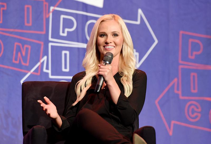 """Tomi Lahren,the descendant of immigrants from <a href=""""https://twitter.com/CleverTitleTK/status/995680514974650368"""" target=""""_blank"""">Russia, Germany and Norway</a>, thinks the arrival of non-English speakers is """"not what this country is based on."""""""