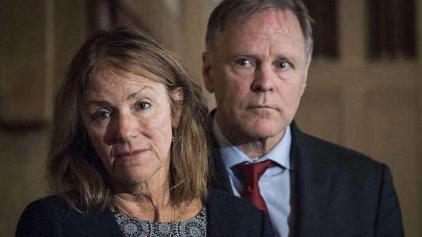 PHOTO: Cindy and Fred Warmbier, parents of Otto Warmbier, who died after being held prisoner in North Korea, listen during a press conference on Dec. 18, 2019 in Washington, D.C. (Sarah Silbiger/Getty Images)