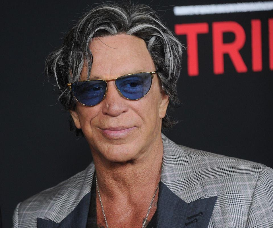 "<p>Actor Mickey Rourke underwent facial cosmetic procedures to correct damage he sustained from his boxing career. ""Most of it was to mend the mess of my face because of the boxing, but I went to the wrong guy to put my face back together,"" <a href=""http://archive.azcentral.com/ent/celeb/articles/2009/02/20/20090220rourke.html#ixzz6OV3co4UT"" rel=""nofollow noopener"" target=""_blank"" data-ylk=""slk:he said in 2009"" class=""link rapid-noclick-resp"">he said in 2009</a>. </p>"
