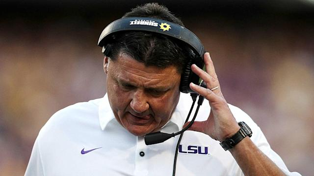 LSU is struggling under Ed Orgeron this season and the Tigers still haven't played the meat of their SEC schedule. (Getty)