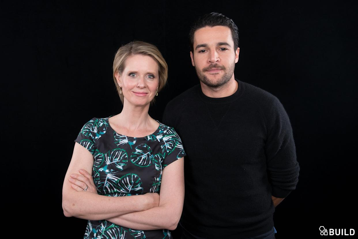 Cynthia Nixon, Christopher Abbott and Josh Mond visit AOL Hq for Build on November 9, 2015 in New York. Photos by Noam Galai
