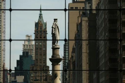 A New York statue of Christopher Columbus, one of the major European explorers of the 15th and 16th centuries, who is credited with discovering the Americas