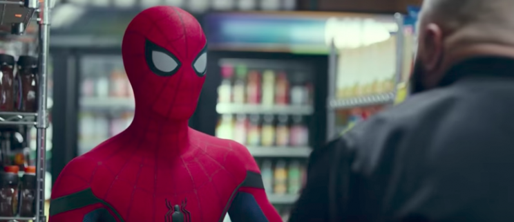 Spider-Man with DJ Khaled in NBA-themed promo clip for 'Homecoming'